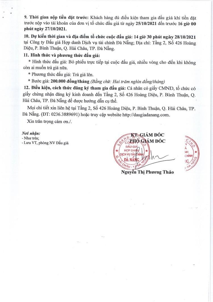 Ngày 28/10/2021, đấu giá quyền sử dụng và khai thác mặt bằng tại Trường THCS Nguyễn Duy Hiệu, TP. Đà Nẵng ảnh 3