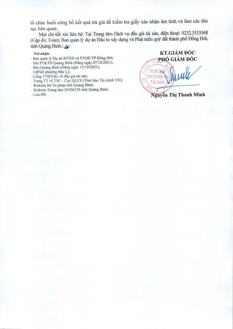 Ngày 29/10/2021, đấu giá quyền sử dụng 31 thửa đất tại thành phố Đồng Hới, tỉnh Quảng Bình ảnh 3