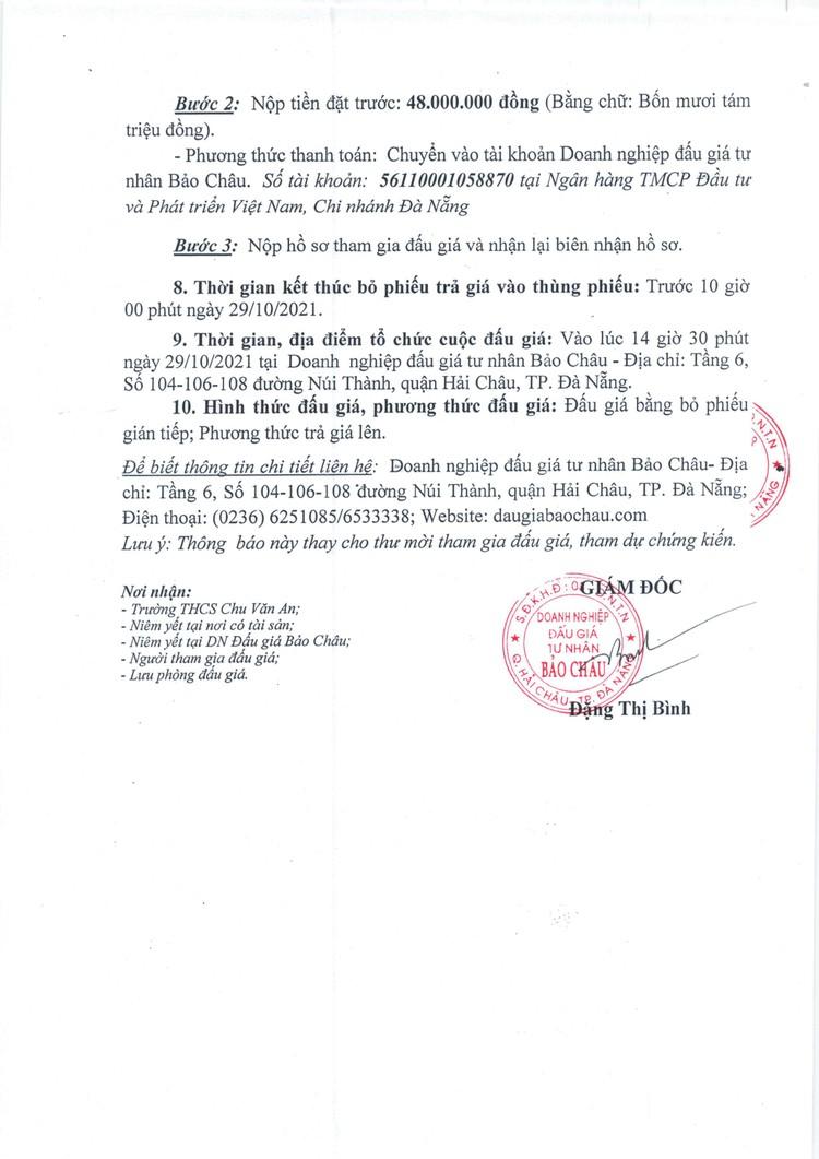 """Ngày 29/10/2021, đấu giá quyền thuê và sử dụng """"Mặt bằng khu căn tin"""" tại Trường Trung học cơ sở Chu Văn An, Hà Nội ảnh 4"""