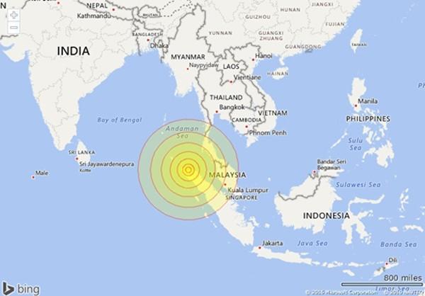 Động đất mạnh hơn 6 độ Richter gần Indonesia ảnh 1
