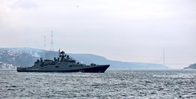 Tàu hộ vệ Nga vượt eo biển Thổ Nhĩ Kỳ tới Syria ảnh 6