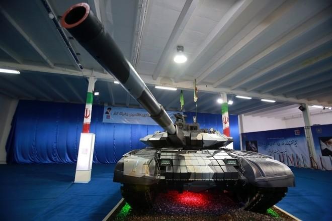Iran trình làng xe tăng tự chế giống hệt T-90MS Nga ảnh 1