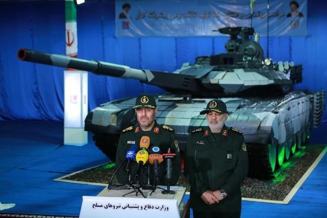Iran trình làng xe tăng tự chế giống hệt T-90MS Nga ảnh 2