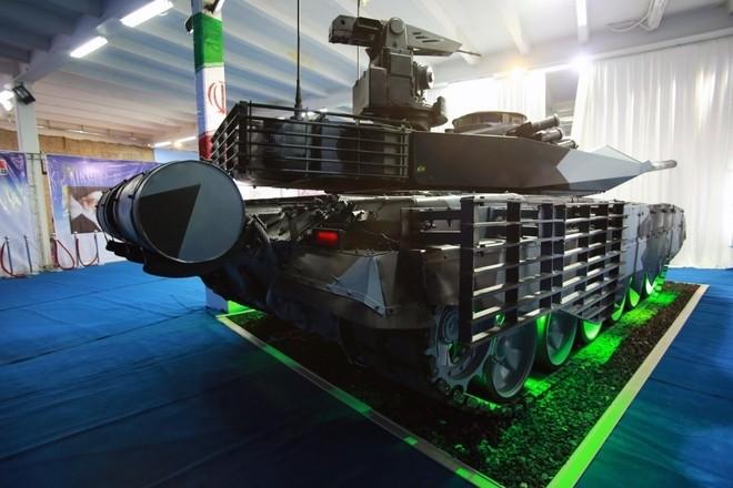 Iran trình làng xe tăng tự chế giống hệt T-90MS Nga ảnh 3