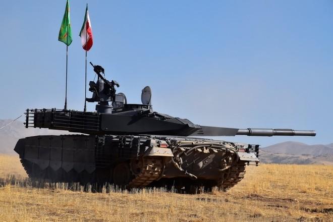 Iran trình làng xe tăng tự chế giống hệt T-90MS Nga ảnh 4