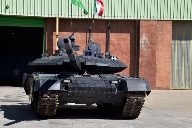 Iran trình làng xe tăng tự chế giống hệt T-90MS Nga ảnh 5