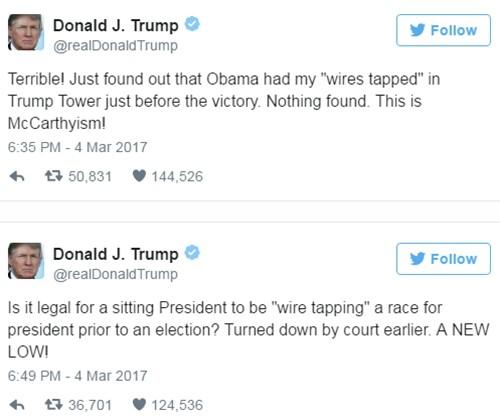 Nhà Trắng đính chính cáo buộc Obama nghe lén Trump ảnh 1