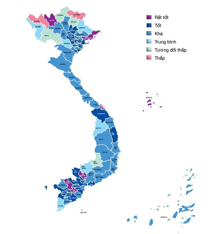 Bản đồ năng lực cạnh tranh cấp tỉnh 2016 ảnh 1