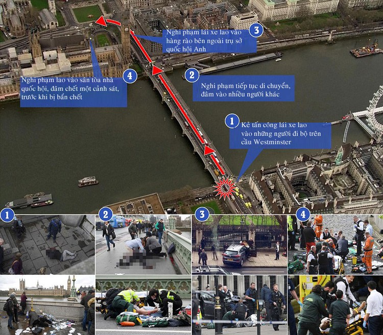 Diễn biến vụ khủng bố gần trụ ở quốc hội Anh khiến 5 người chết ảnh 1