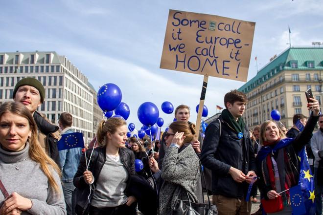 Hàng nghìn người biểu tình bảo vệ EU ở Đức ảnh 5