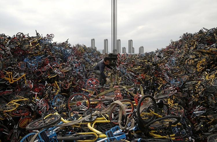 """Những """"nghĩa trang"""" xe đạp khổng lồ ở Trung Quốc ảnh 4"""