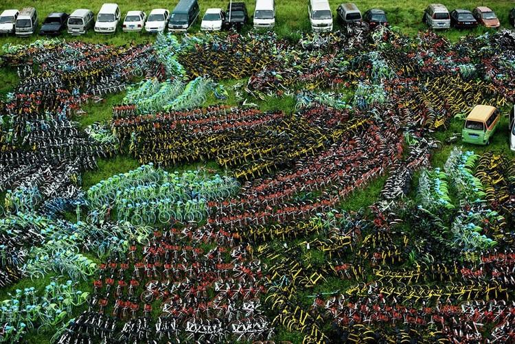 """Những """"nghĩa trang"""" xe đạp khổng lồ ở Trung Quốc ảnh 10"""