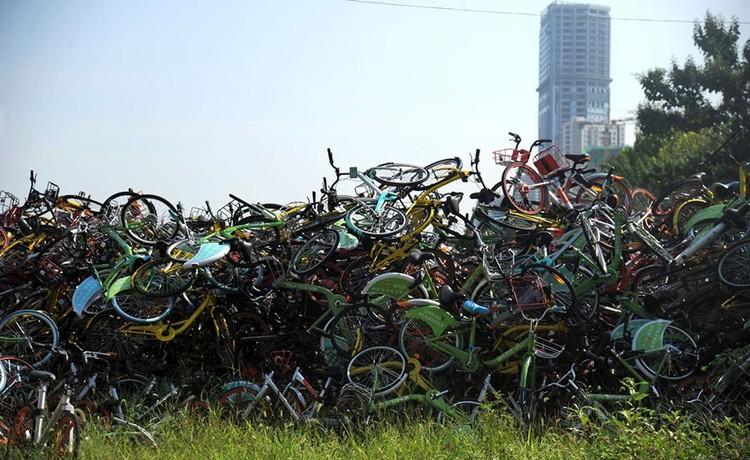 """Những """"nghĩa trang"""" xe đạp khổng lồ ở Trung Quốc ảnh 14"""