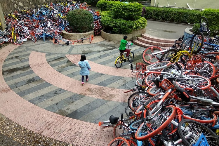 """Những """"nghĩa trang"""" xe đạp khổng lồ ở Trung Quốc ảnh 18"""