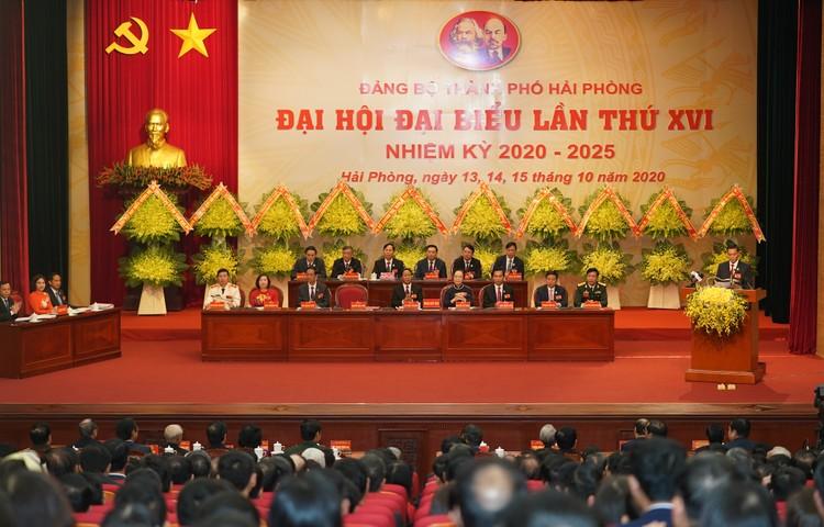 Chùm ảnh: Thủ tướng Nguyễn Xuân Phúc dự Đại hội Đảng bộ TP. Hải Phòng ảnh 5