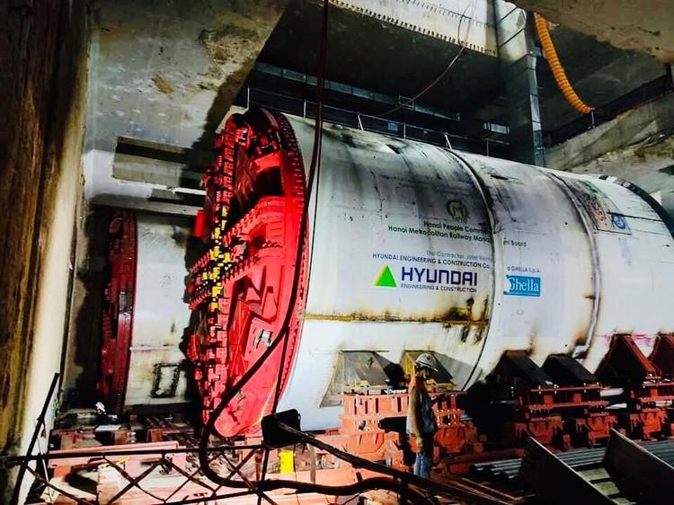Robot đào hầm của tuyến đường sắt đô thị số 3, đoạn Nhổn - ga Hà Nội được lắp ráp như thế nào? ảnh 8