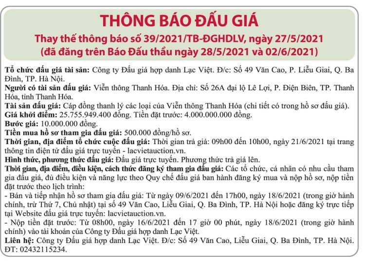 Ngày 21/6/2021, đấu giá cáp đồng thanh lý các loại tại Hà Nội ảnh 3