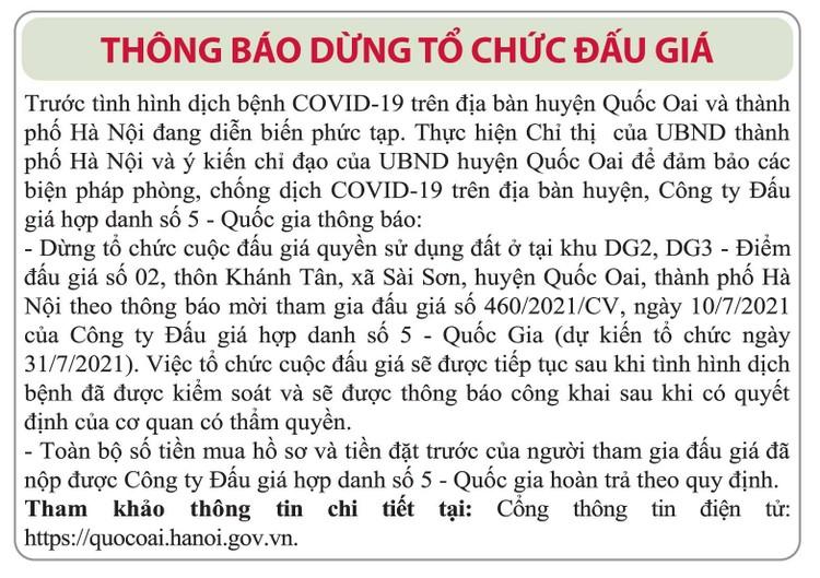 Ngày 31/7/2021, đấu giá quyền sử dụng đất tại huyện Quốc Oai, Hà Nội ảnh 2