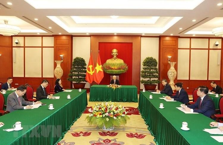 Tổng Bí thư Nguyễn Phú Trọng điện đàm với Tổng Bí thư, Chủ tịch nước Trung Quốc Tập Cận Bình ảnh 1