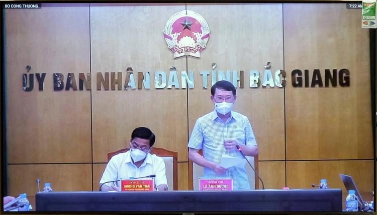 Bộ Công Thương cam kết đồng hành cùng tỉnh Bắc Giang vượt qua giai đoạn khó khăn ảnh 1