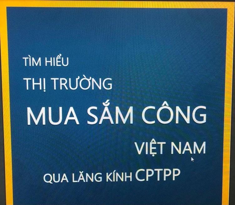 Ra mắt sổ tay Tìm hiểu thị trường mua sắm công Việt Nam qua lăng kính CPTPP ảnh 1