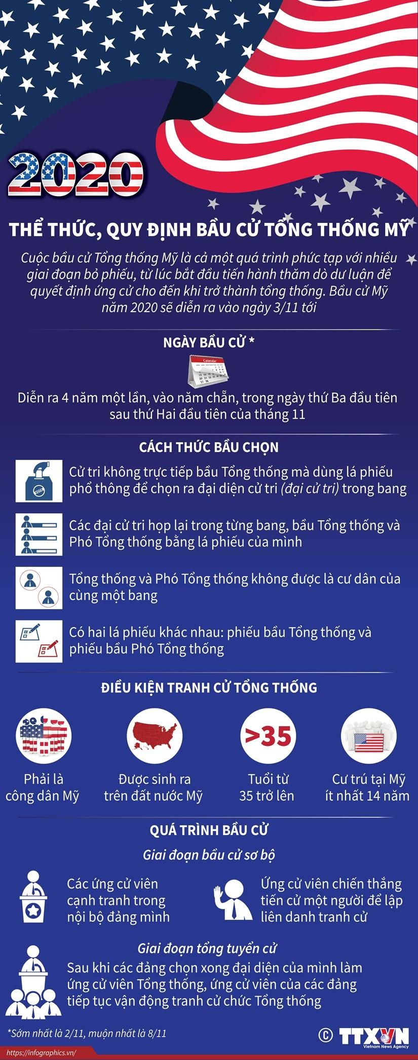 Thể thức và quy định bầu cử Tổng thống Mỹ ảnh 1
